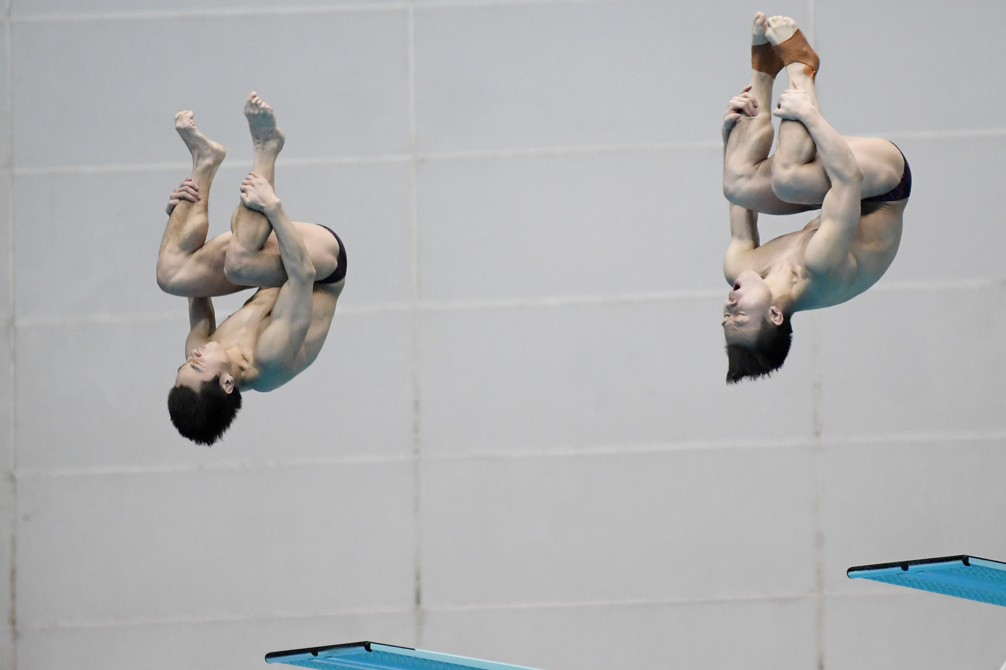 China's Cao Yuan and Xie Siyi were a cut above their opponents in the men's synchronised 3m springboard event ©Getty Images