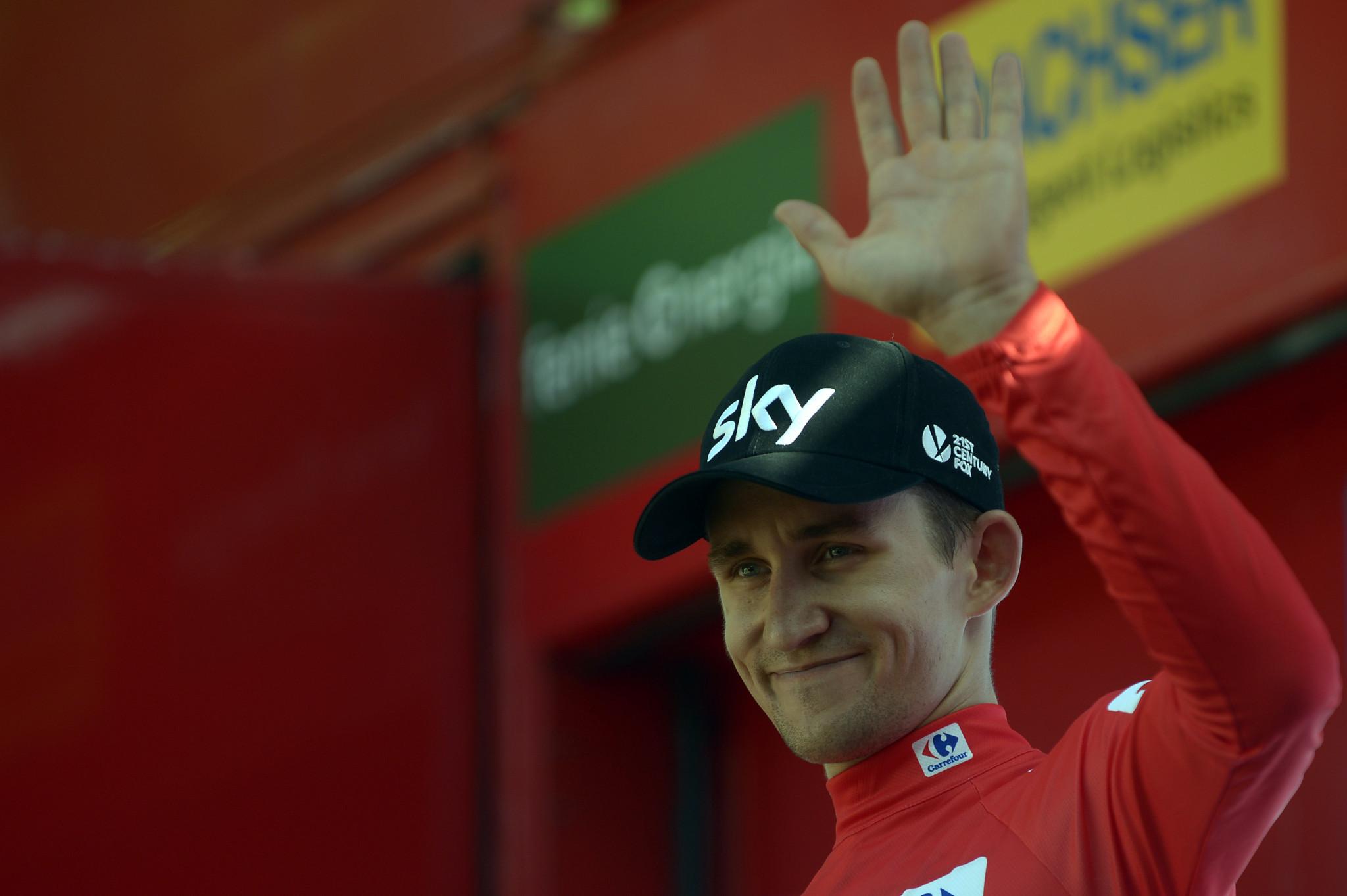 Michal Kwiatkowski saw his race lead cut ©Getty Images