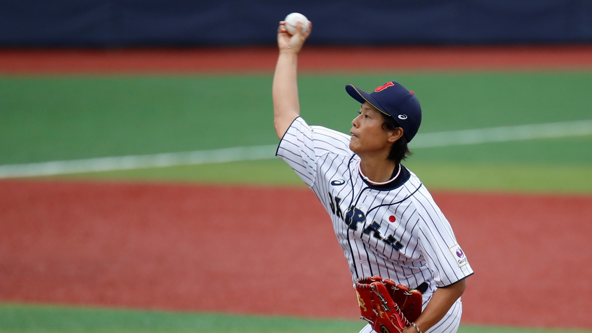 Ayami Sato led Japan to victory over the US with a near perfect pitching performance ©WBSC