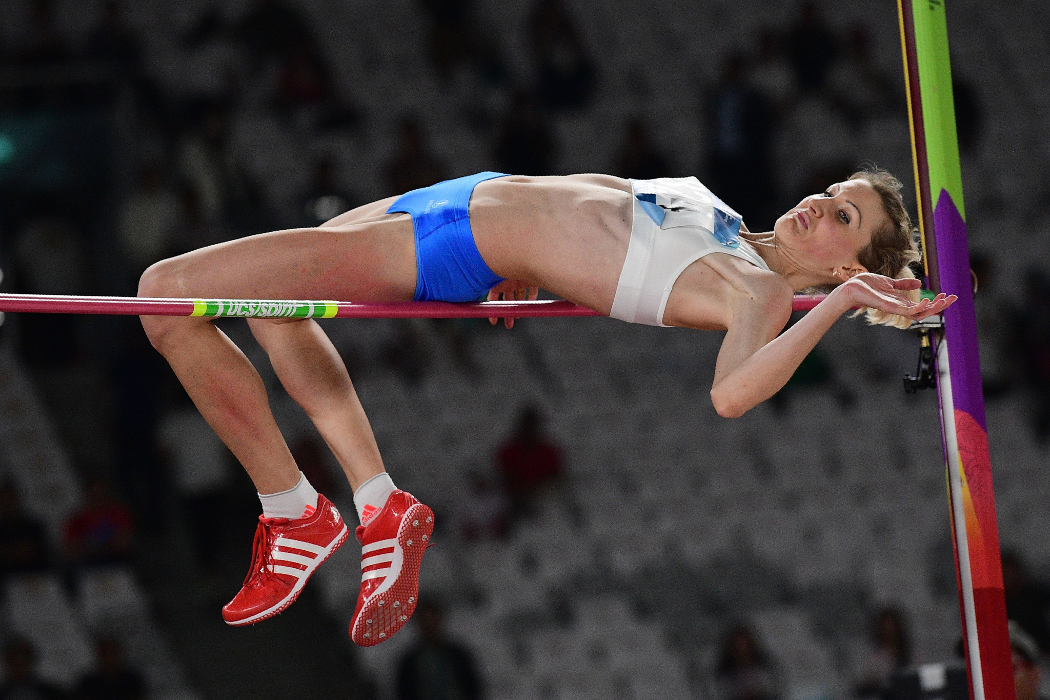 Svetlana Radzivil cleared a Games record height of 1.96m to win the women's high jump ©Getty Images