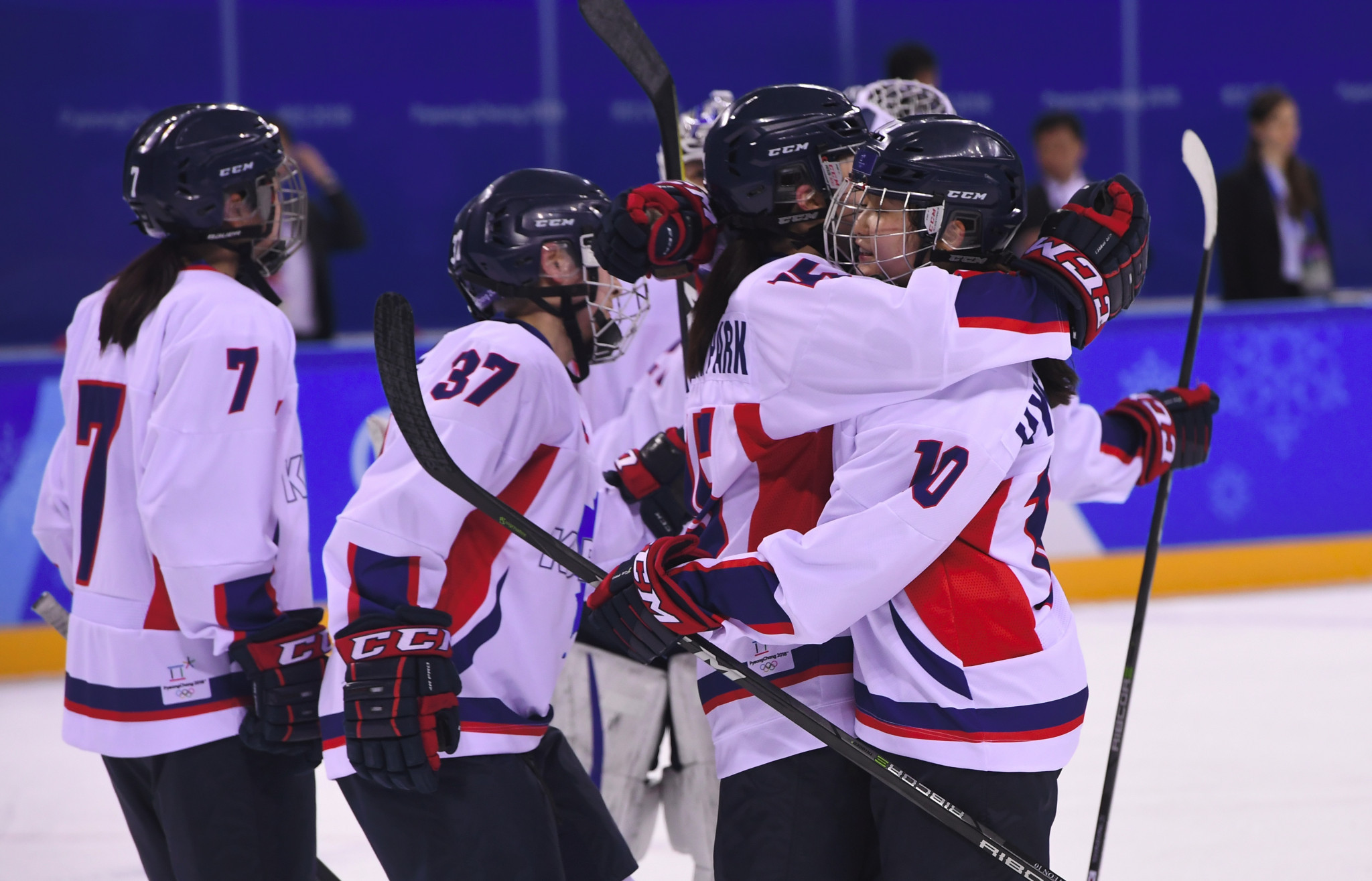 A unified Korean team competed in women's ice hockey competition at the Games ©Getty Images
