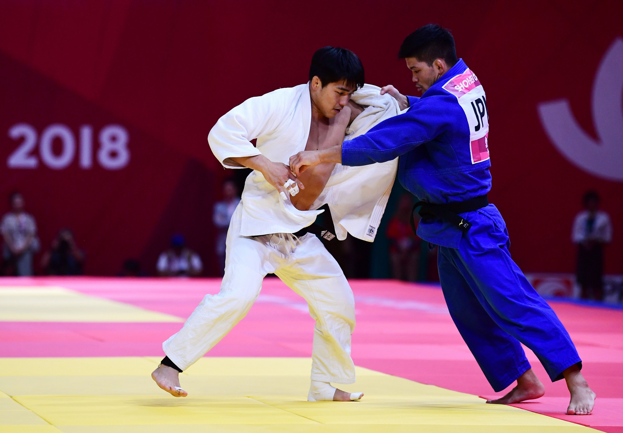 Olympic champion Shohei Ono beat South Korea's An Changrim in the men's under-73 kilograms final, securing Japan's second triumph of the day ©Getty Images