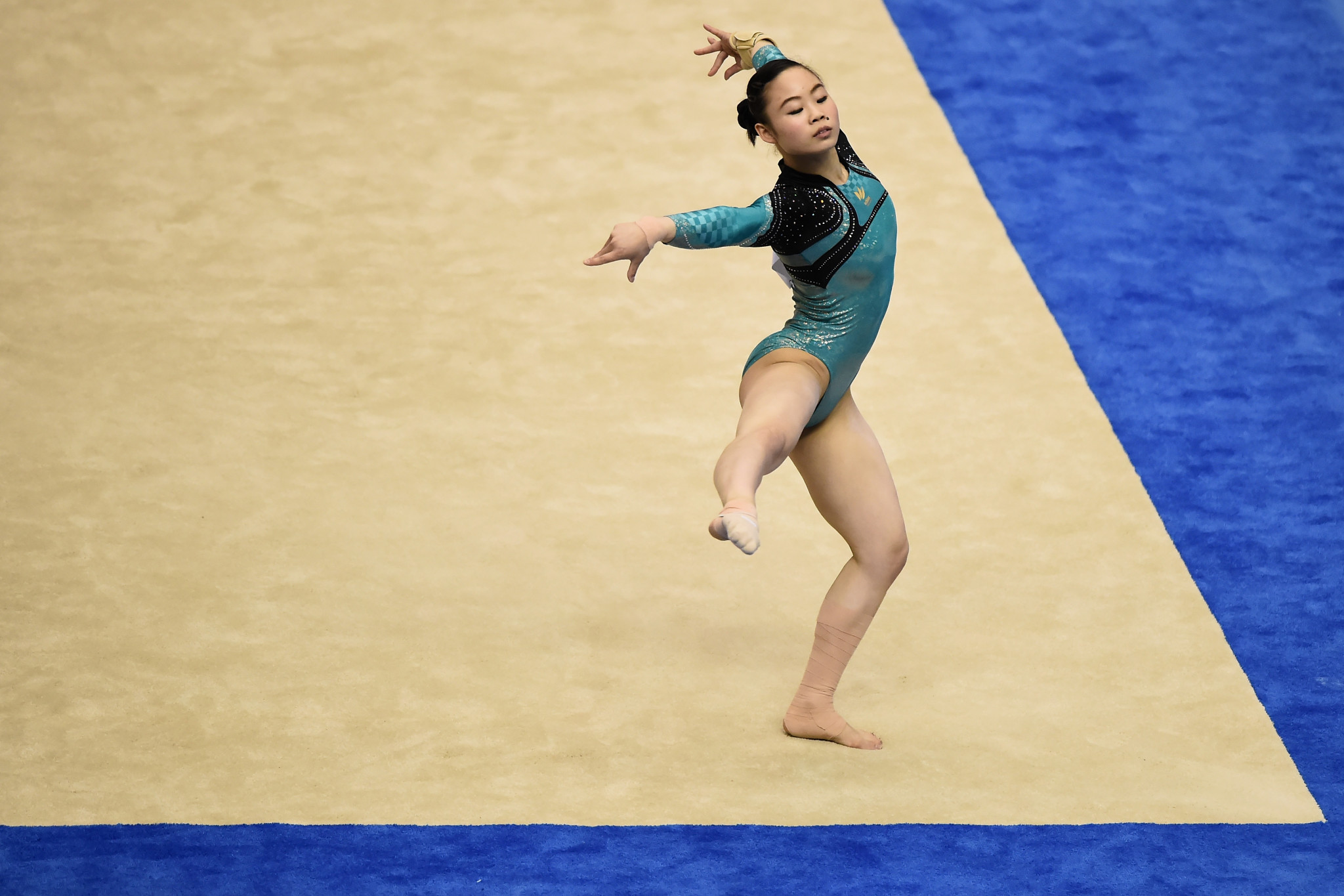The Japanese gymnast competed at the 2016 Rio Olympics but may not attend the gymnastics World Championships in Doha without her coach ©Getty Images