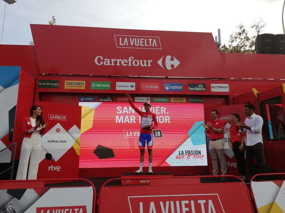 Molard retains red jersey as Bouhanni wins sprint finish at Vuelta a España