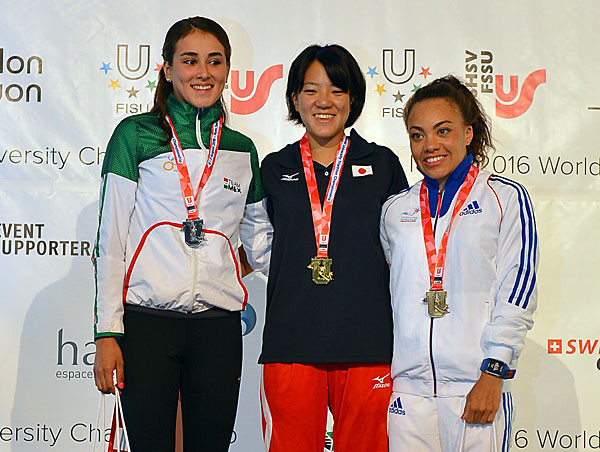 Mexico's Vanesa De La Torre, left, is the only medallist from 2016 to return for this year's event ©FISU