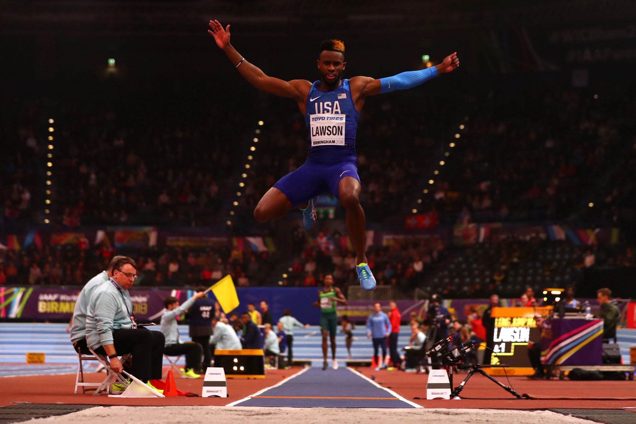 Jarrion Lawson is a World Championship silver medallist ©Getty Images