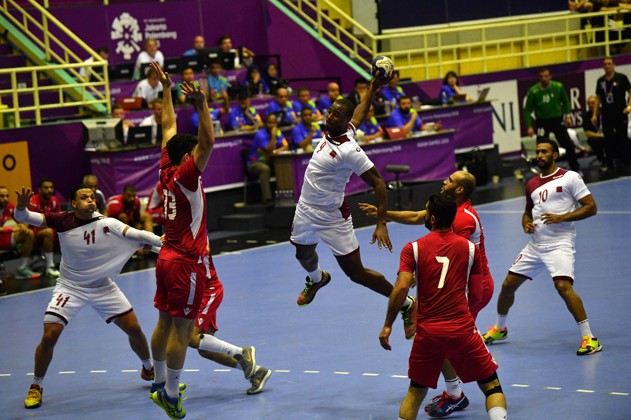 Qatar successfully defended their men's handball title after claiming a 32-27 win in extra-time over Bahrain ©Getty Images