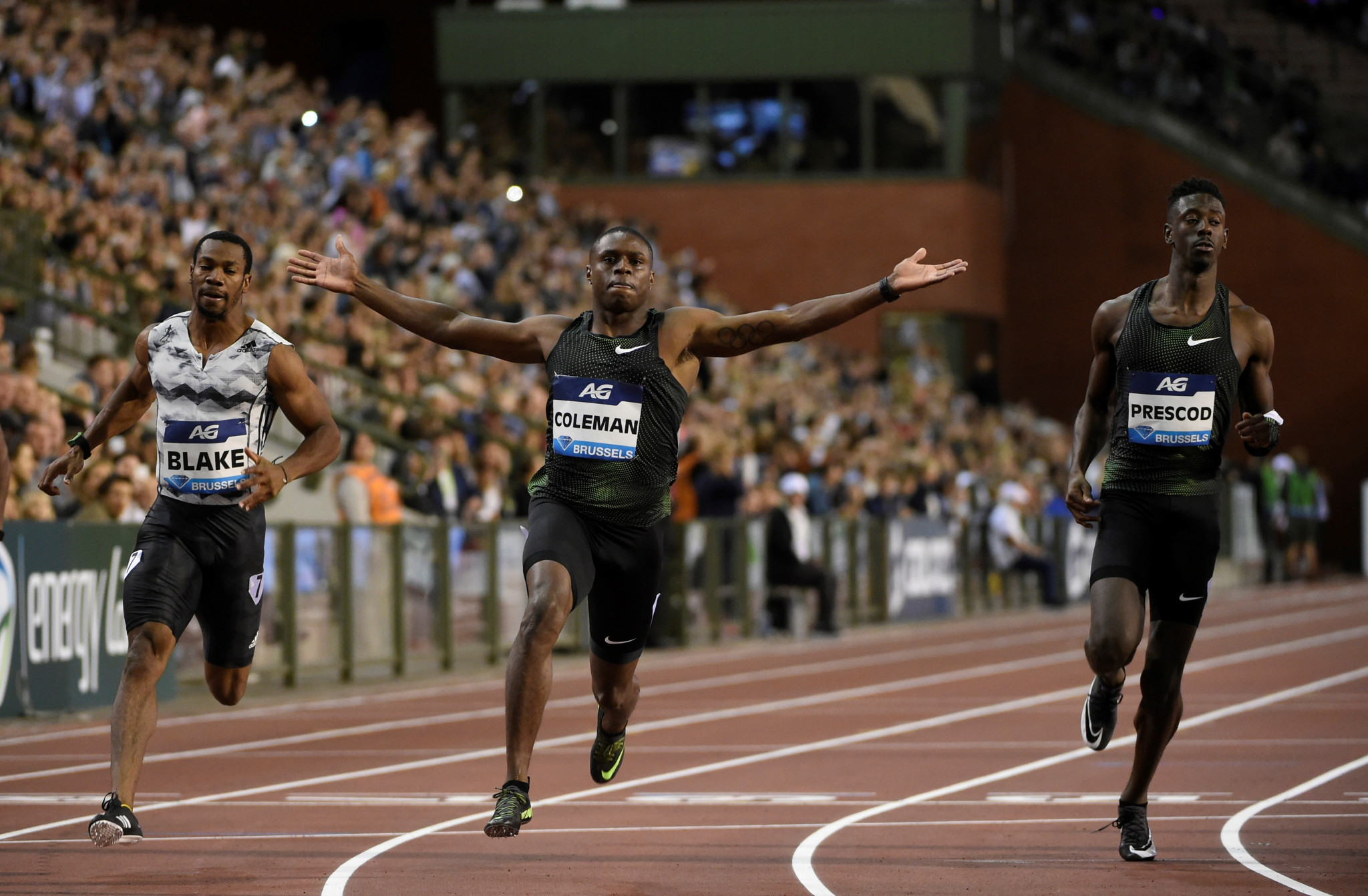 Christian Coleman wins the Brussels 100m in 9.79sec ©Getty Images