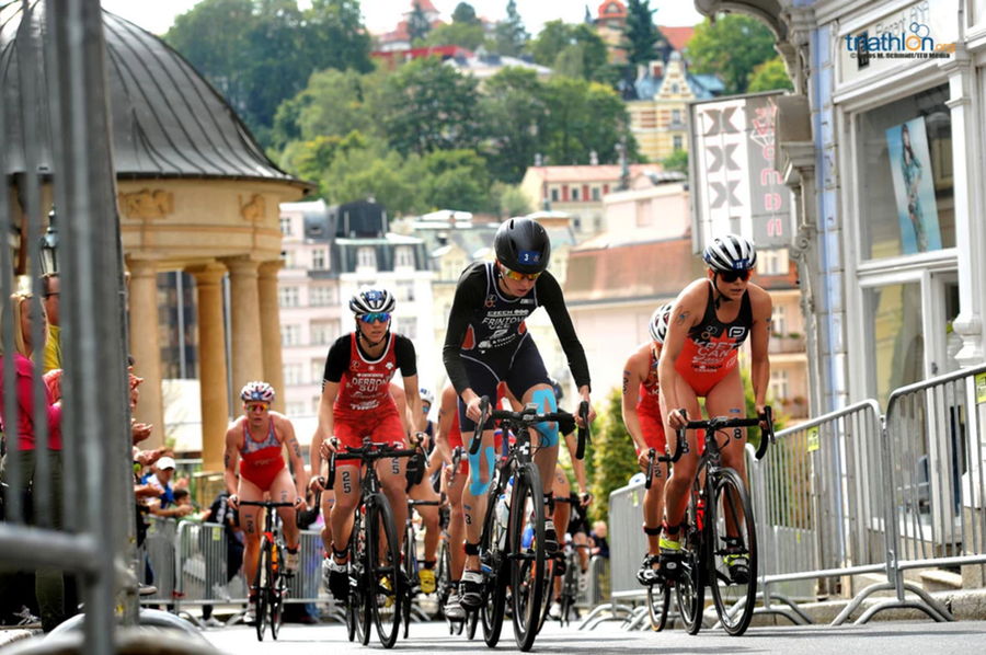 Karlovy Vary is hosting a Triathlon World Cup event for just the second time ©ITU
