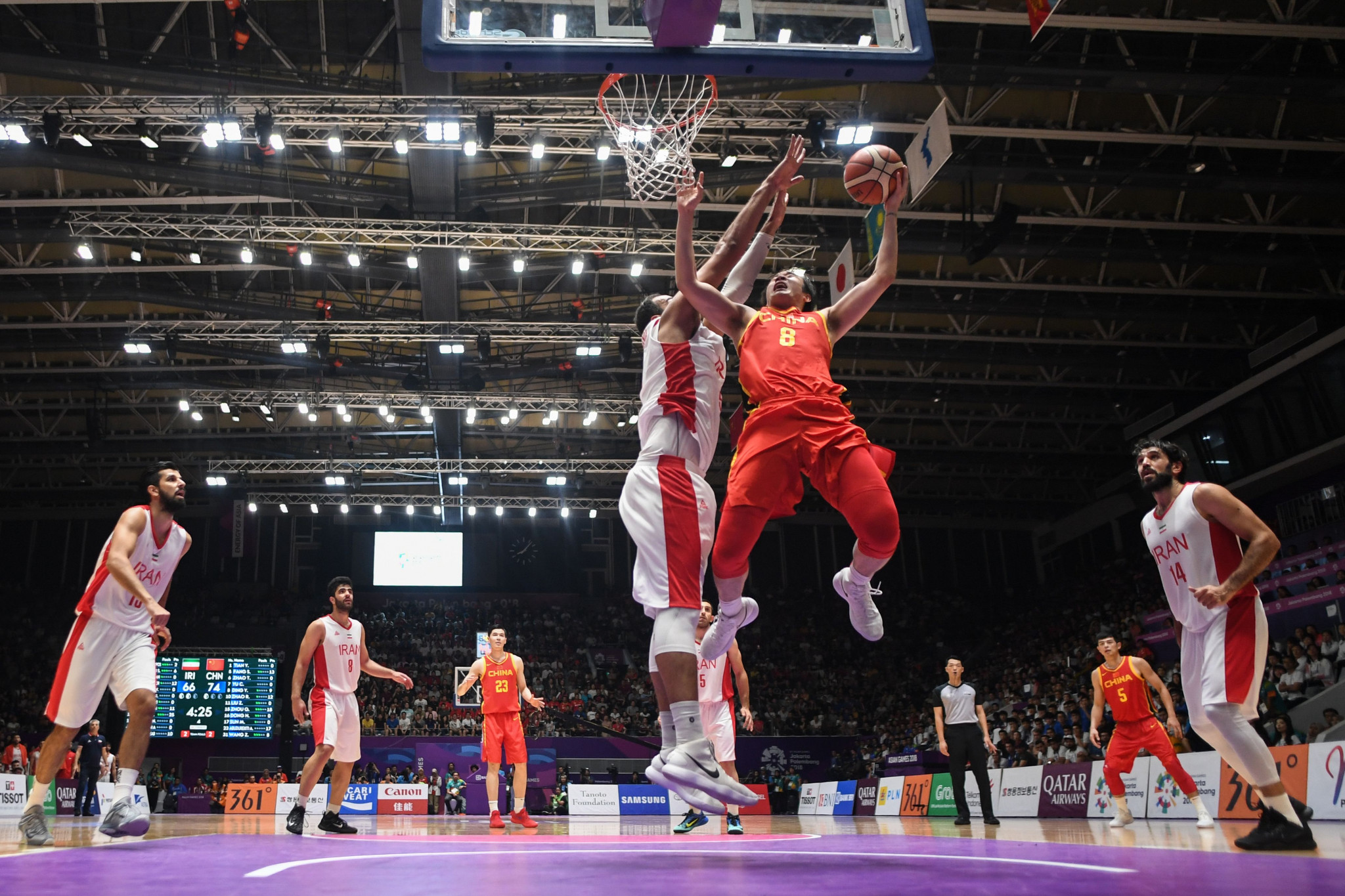 China beat Iran to secure a record-extending eighth men's basketball gold medal at the Asian Games ©Getty Images