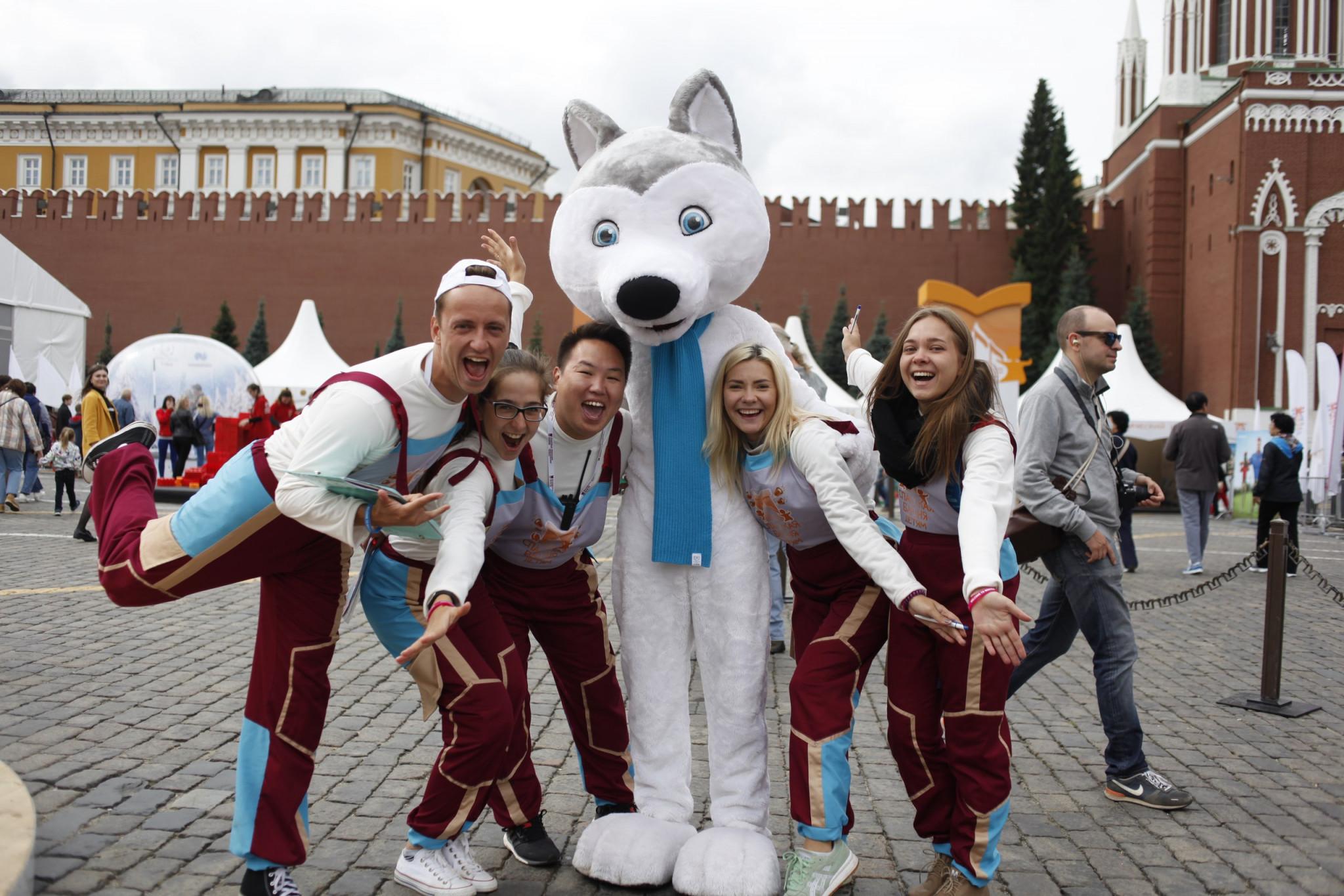 Mascot U-Laika helped to promote the Winter Universiade ©FISU