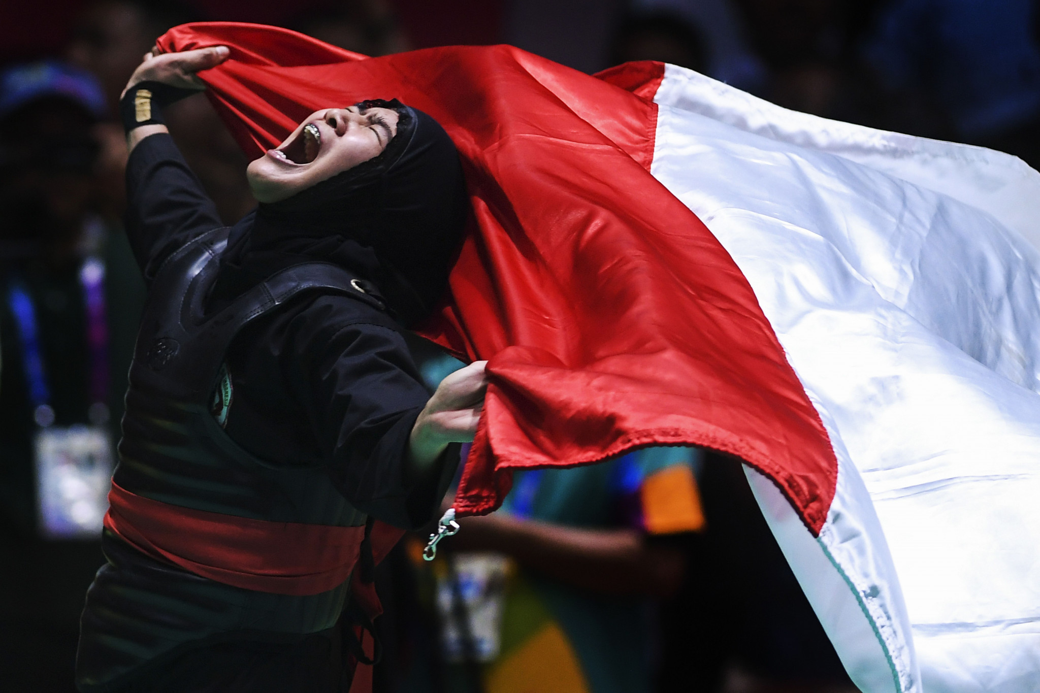 Indonesia won 14 of the 16 gold medals on offer in pencak silat here ©Getty Images