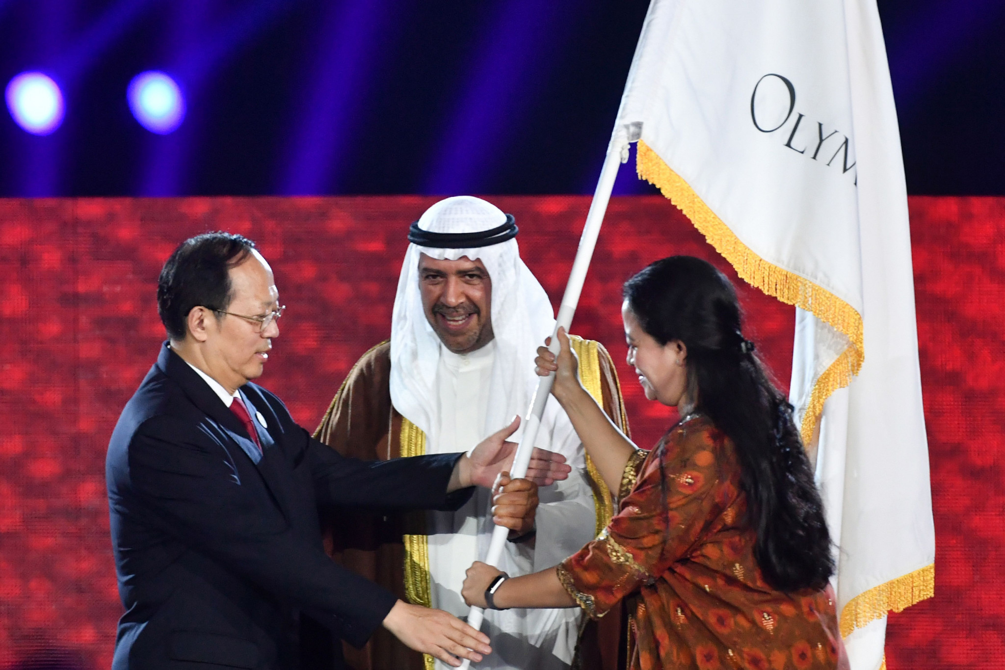 He was also on hand to participate in the OCA flag handover ceremony as attention turned to the 2022 Asian Games in Hangzhou in China ©Getty Images