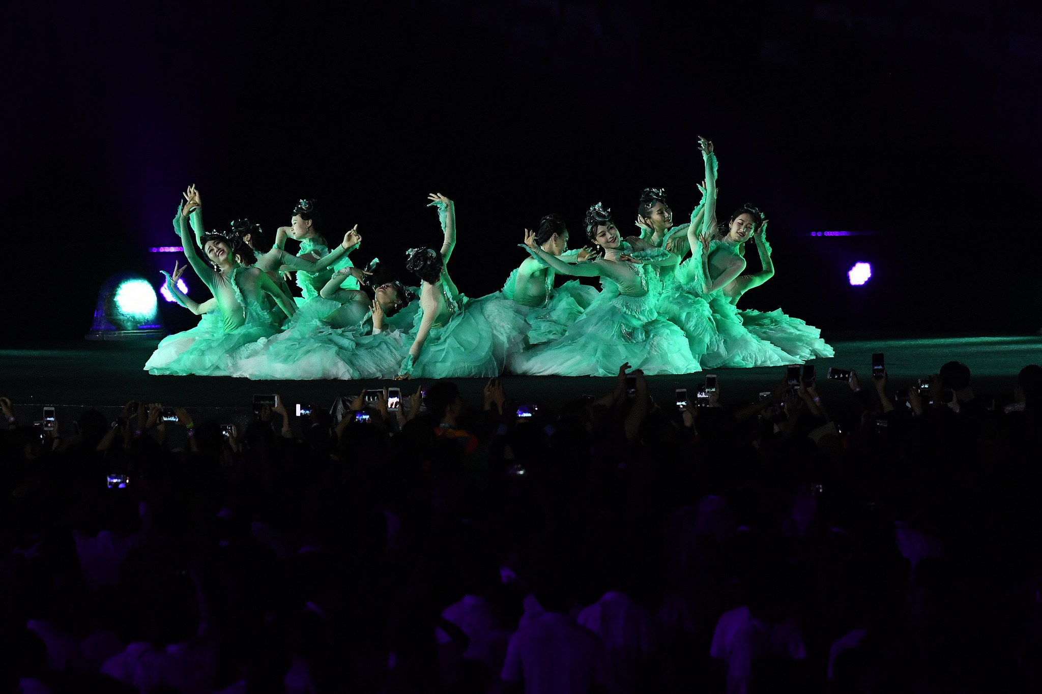 The Closing Ceremony featured a variety of artists ©Getty Images