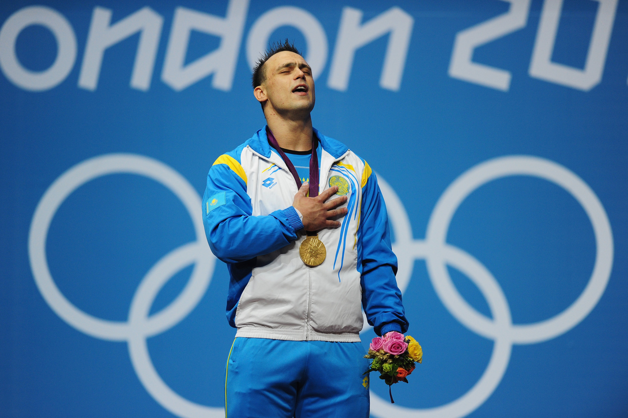 Controversial figure Ilya Ilyin has returned to weightlifting action ©Getty Images