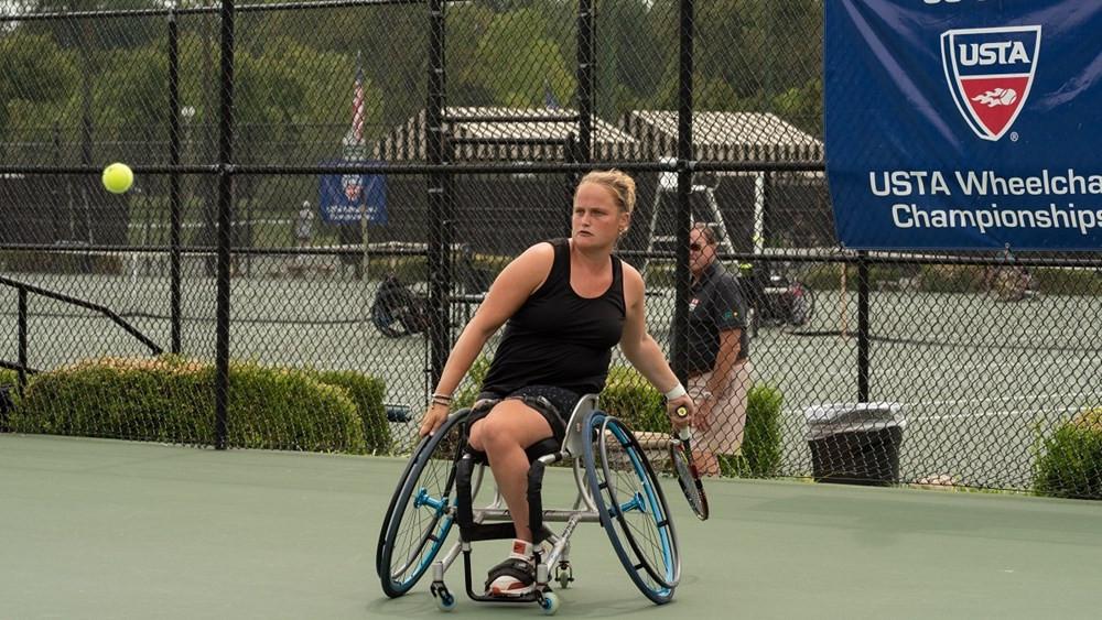 Aniek Van Koot of The Netherlands won the USTA Wheelchair Tennis women's singles title in St Louis ©ITF