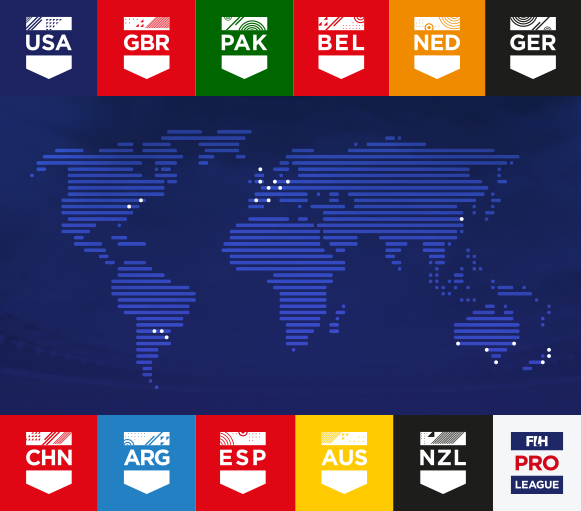 FIH have announced 20 venues in 11 countries to stage the inaugural FIH Pro League ©FIH