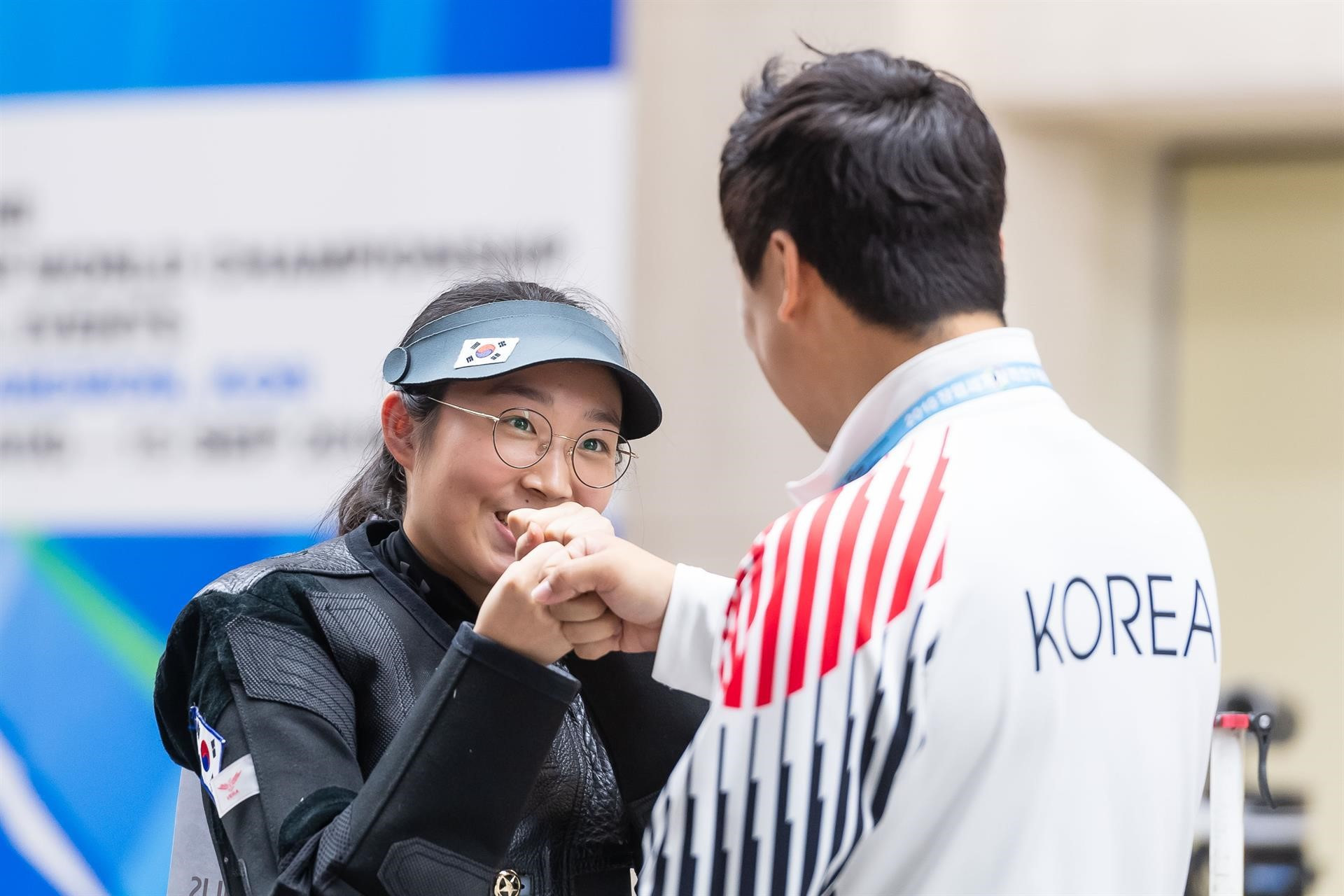 South Korea's Hana Im is the new world champion in the 10m air rifle event with her team-mate finishing in bronze ©ISSF