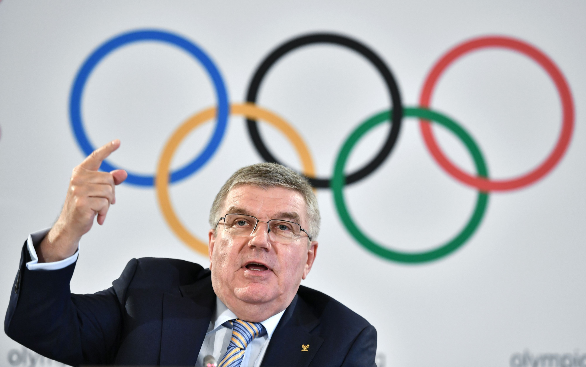 International Olympic Committee President Thomas Bach has revealed that the organisation has accepted the idea of holding the Tokyo 2020 Olympic flame lighting ceremony on March 11 of that year ©Getty Images