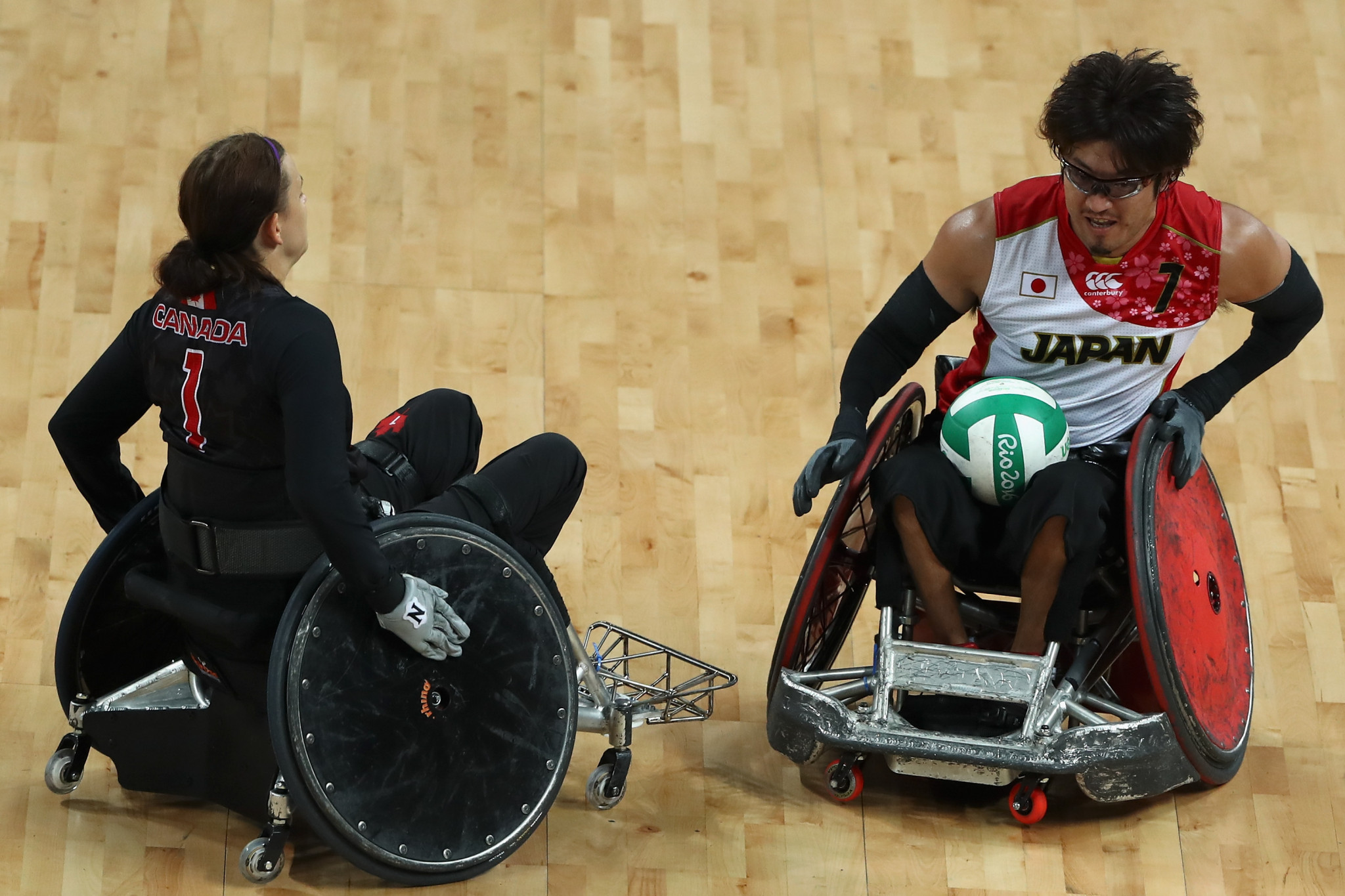 Daisuke Ikezaki is nominated for his MVP performance in the 2018 Wheelchair Rugby World Championship as Japan beat Australia in a tense final ©Getty Images