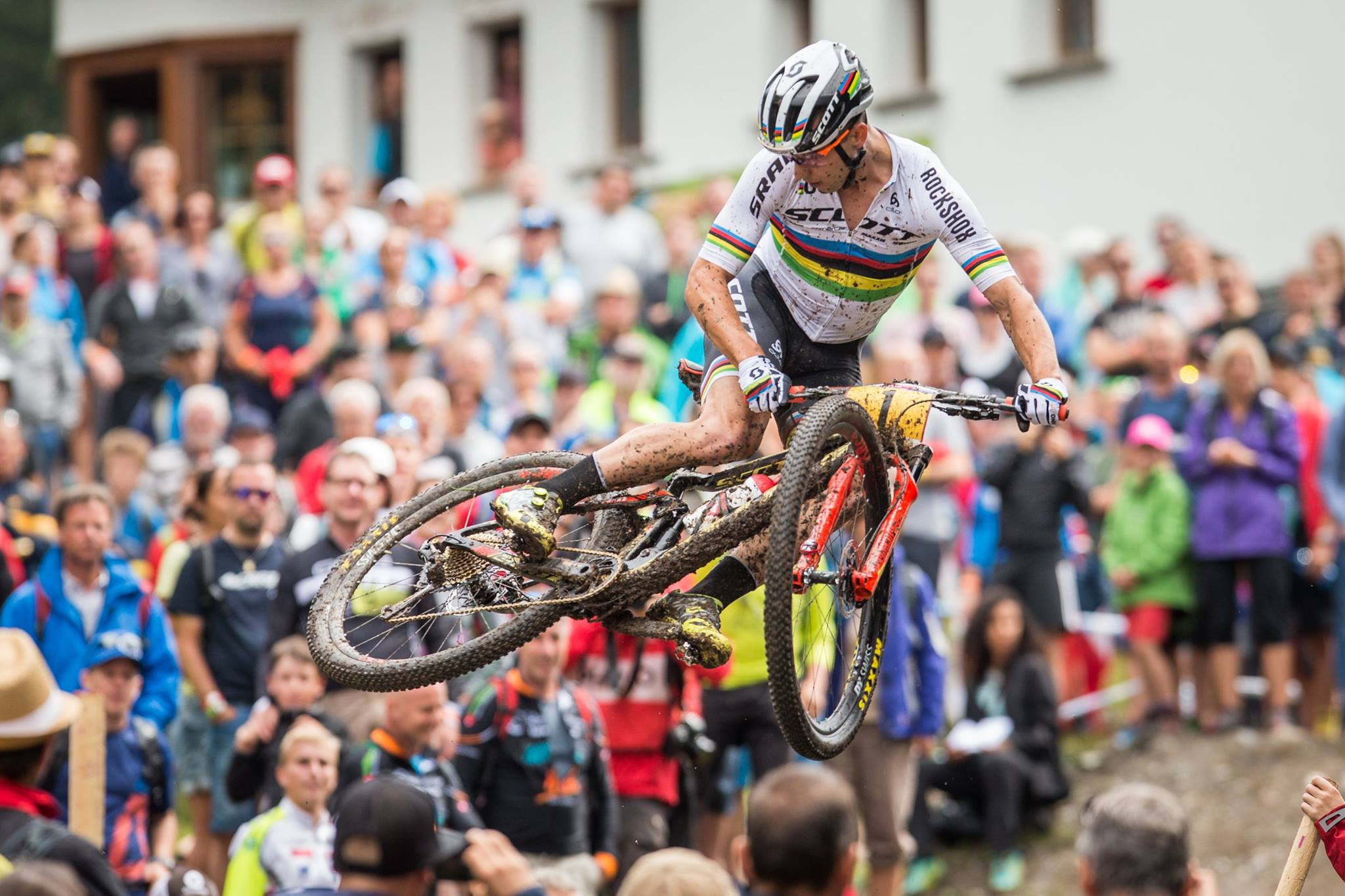 Home rider Nino Schurter is targeting a seventh title at the UCI Mountain Bike World Championships at Lenzerheide in Switzerland ©UCI
