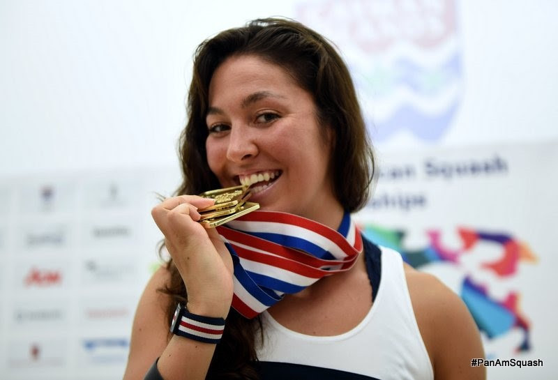 Amanda Sobhy made it a clean sweep of golds at the Pan American Squash Championships ©WSF