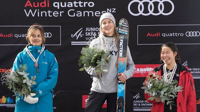 Kelly Sildaru recovered from a knee injury to win two golds at the 2018 FIS Freestyle Ski and Snowboard Junior World Championships ©FIS