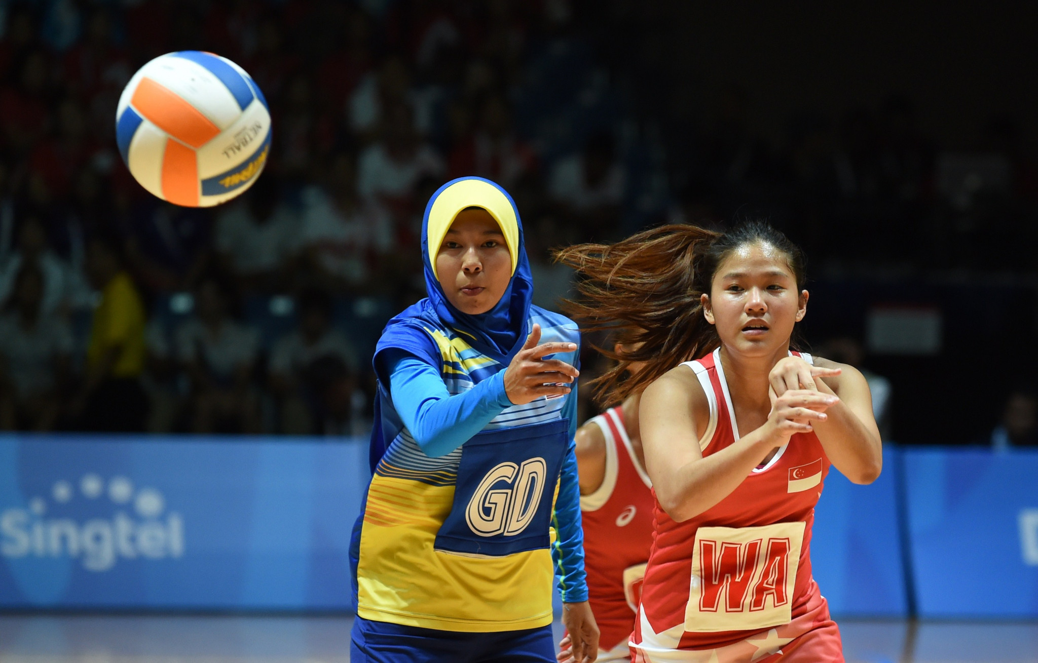 Malaysia's netball team are so far unbeaten in the tournament ©Getty Images