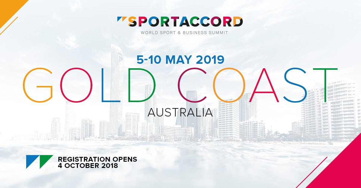 Gold Coast has been chosen to host the 2019 SportAccord Summit