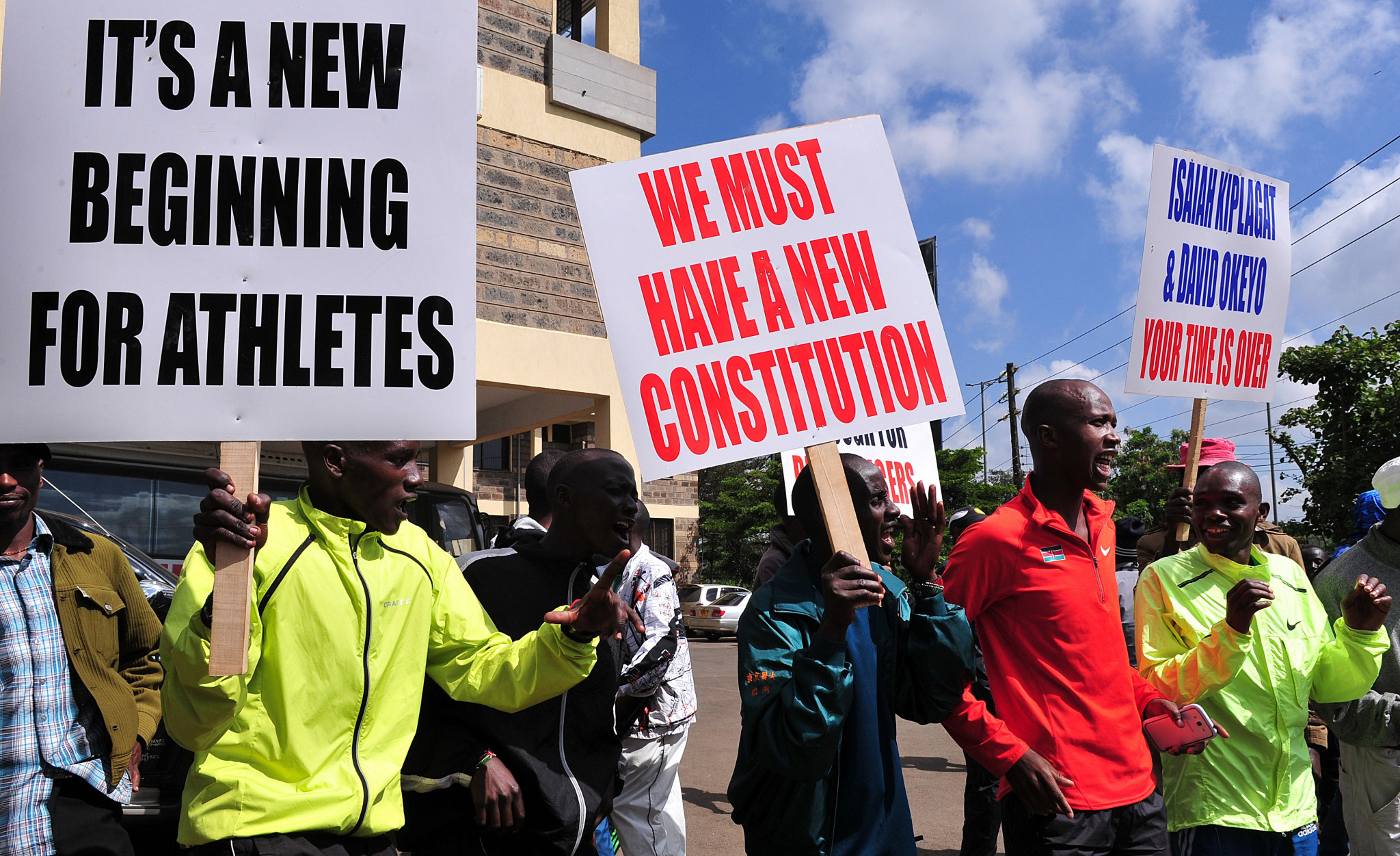 The allegations against the two officials prompted protests from Kenyan athletes ©Getty Images