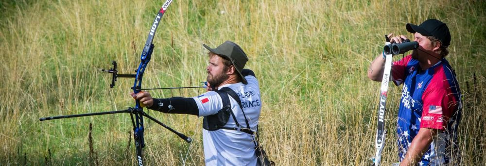 Valladont and Ellison earn direct progress to semi-finals at World Archery Field Championships