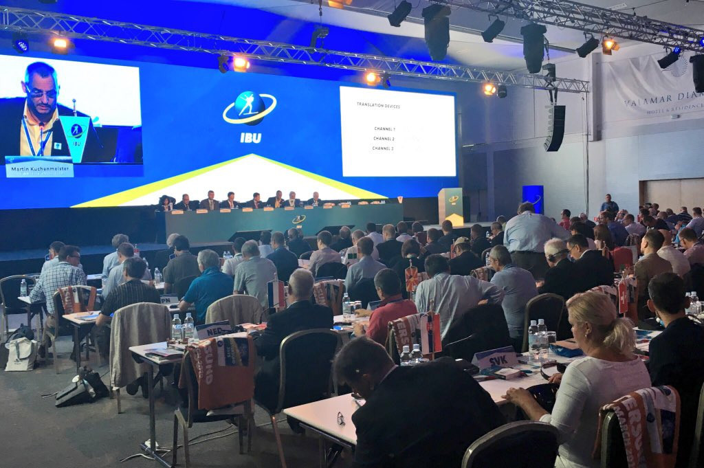 The report from the audit was presented at the IBU Congress today ©IBU
