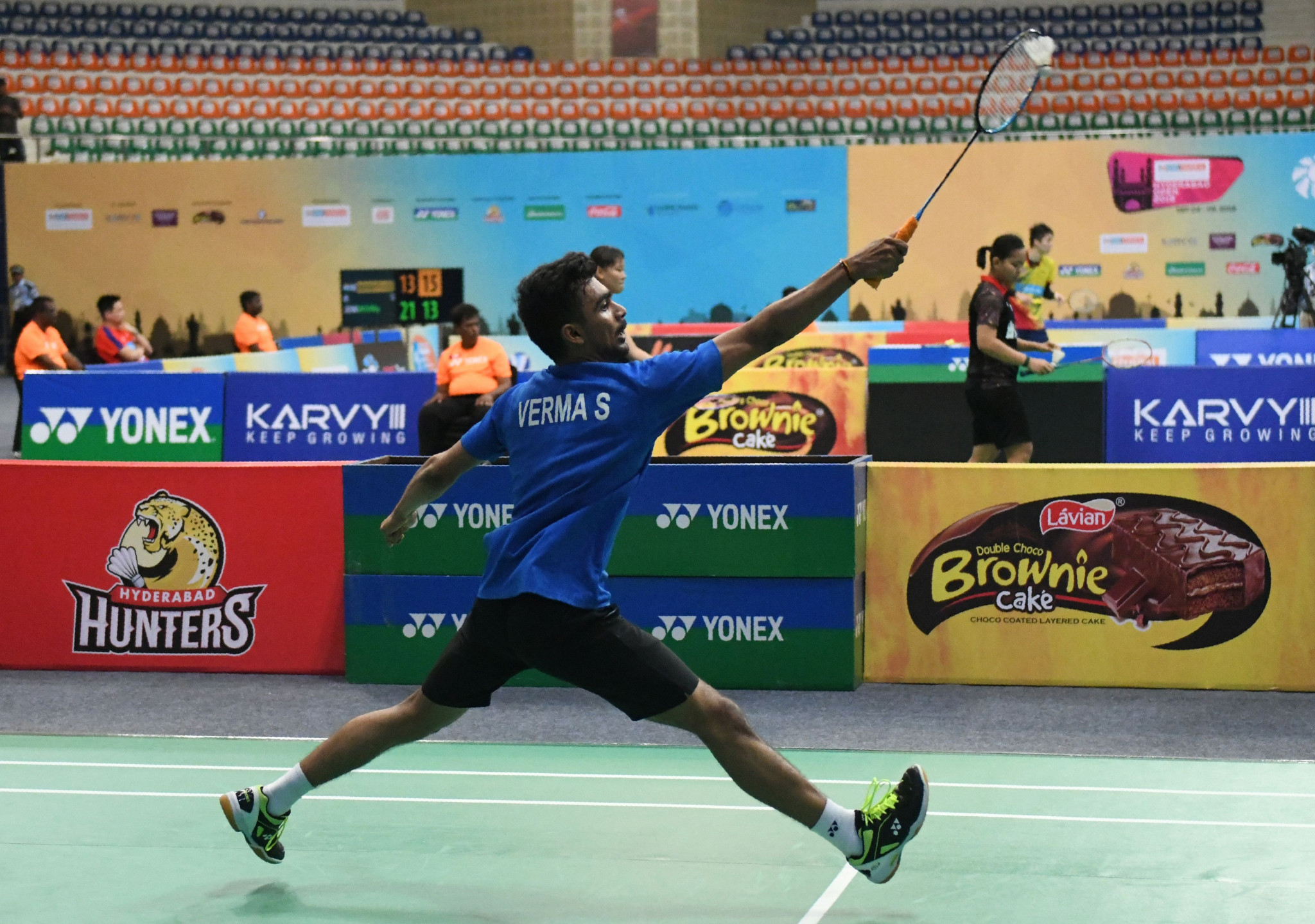 India's top seed Sameer Verma wins his men's singles quarter-final today at the BWF Hyderabad Open ©BWF