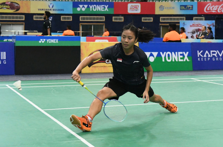 Singapore's Jia Min Yeo en-route to a semi-final place at the BWF Hyderabad Open ©BWF