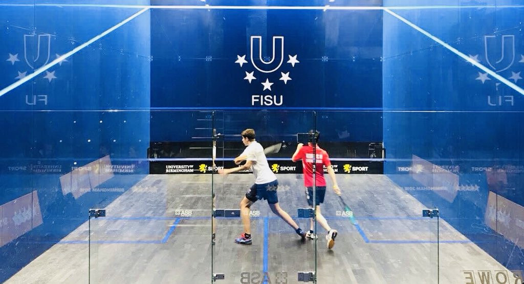 The semi-final spots have been decided at the World University Squash Championships today, with women's top seed Grace Gear knocked out ©England Squash/Twitter