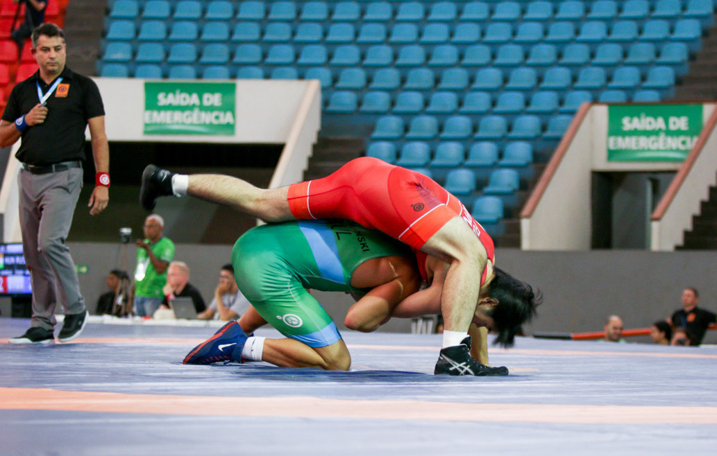 A wrestler from Japan featured in every final, but the country claimed only one gold ©FISU