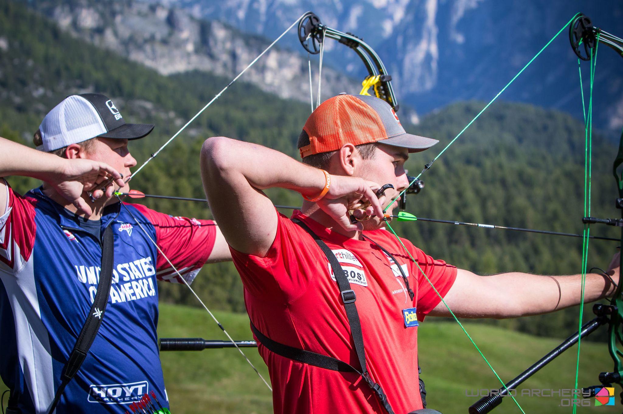 Nico Wiener will contest the men's compound final against Dutchman Mike Schloesser ©World Archery