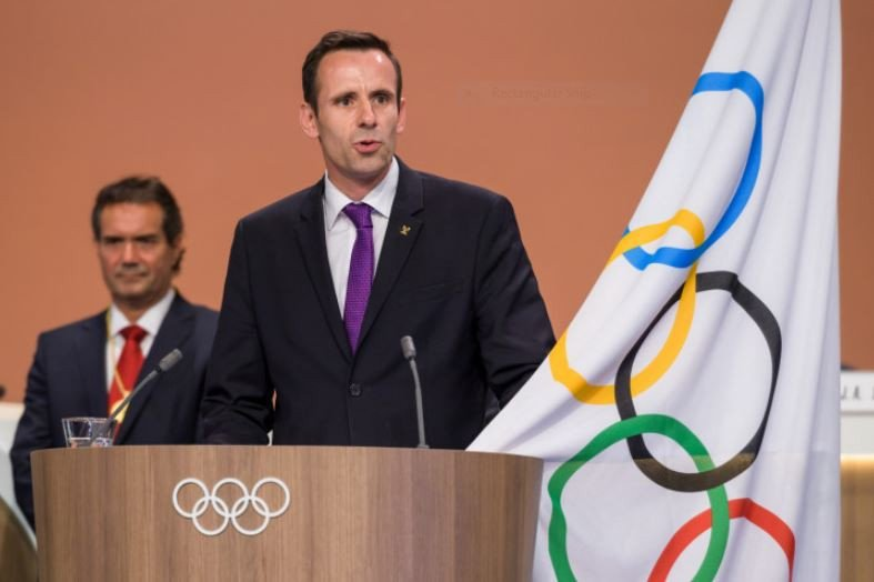 Jean-Christophe Rolland, FISA President and recently appointed IOC member, speaks at last October's IOC Congress in Lima ©Getty Images