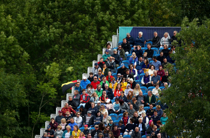Spectators at the rowing held at Strathclyde Country Park in Glasgow last month as part of the multi-event European Championships - a great success, according to Jean-Christophe Rolland, and rowing is likely to be back again for the 2022 version ©Getty Images