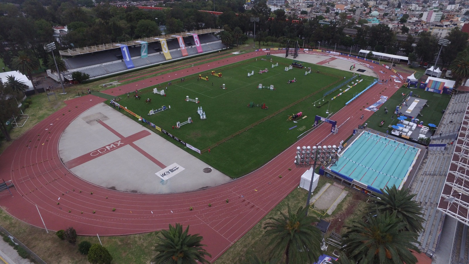 The Mexico City stadium contains all the necessary features to stage all five events of the modern pentathlon ©UIPM