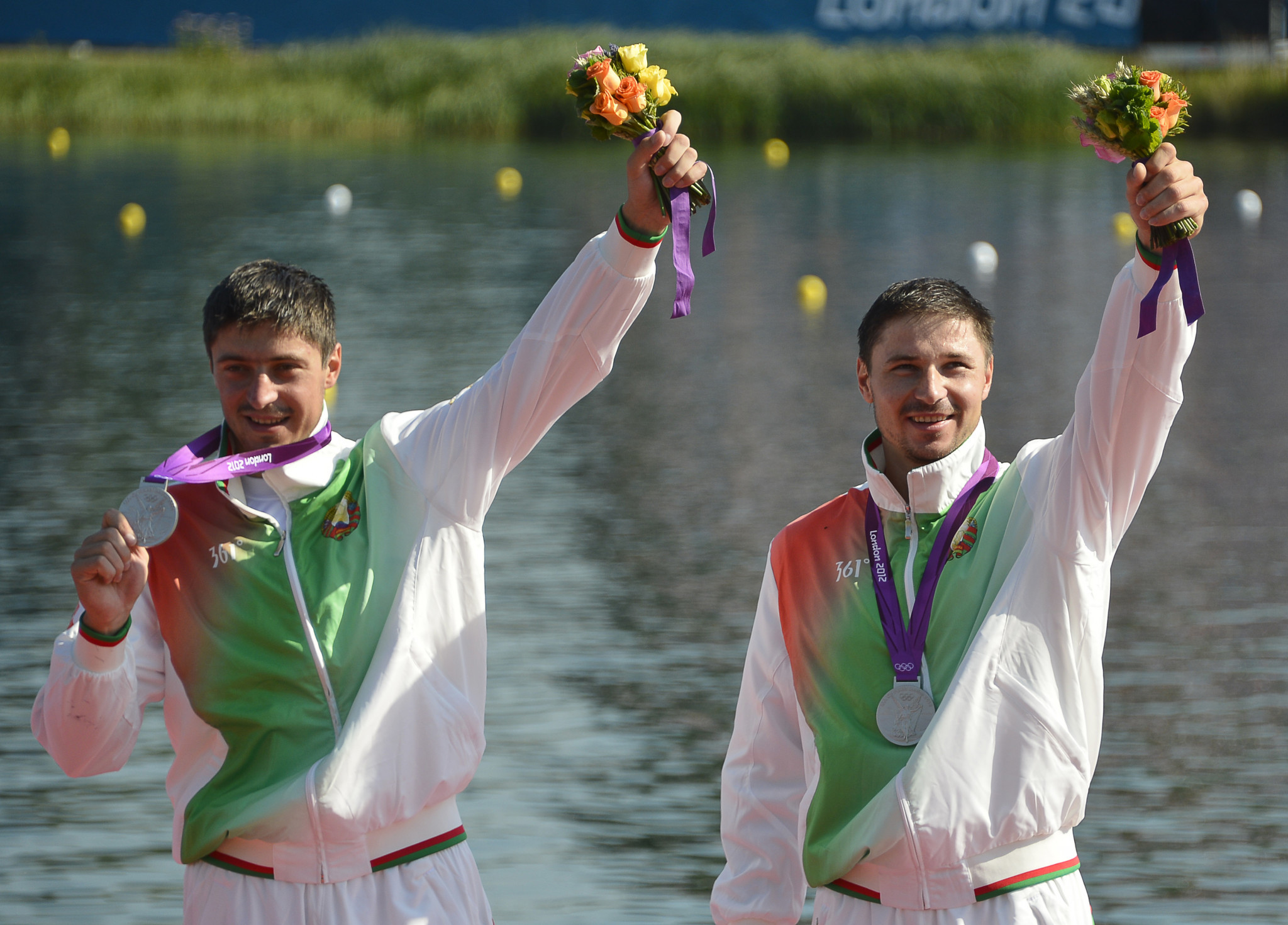 As well as gold at the 2008 Beijing Olympics, Aliaksandr Bahdanovich, right, won silver at London 2012 alongside Andrei Bahdanovich ©Getty Images