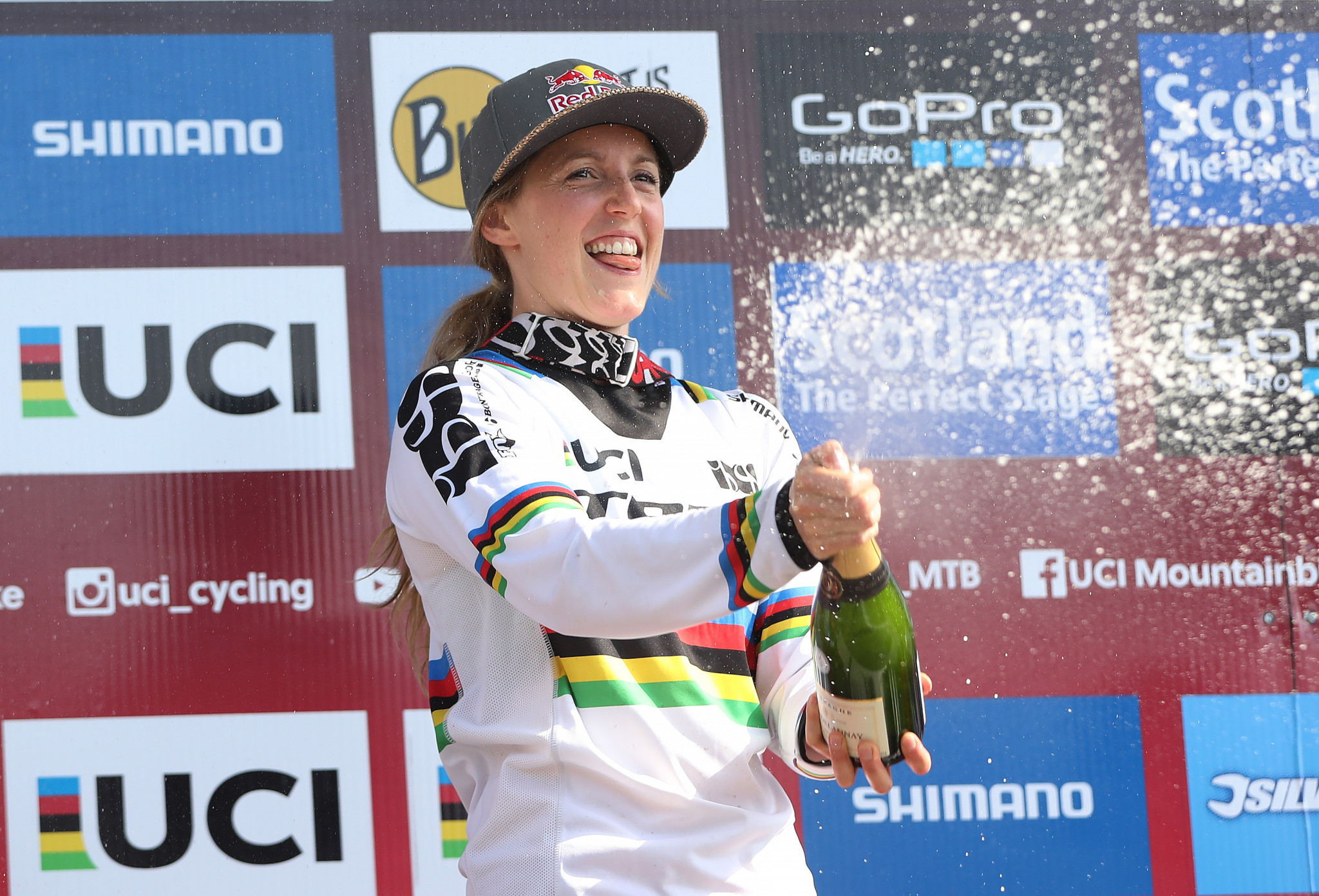 Atherton wins fifth downhill gold at Mountain Bike World Championship as Bruni defends men's title