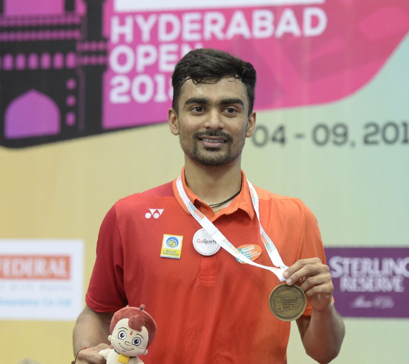 India's top seed Sameer Verma justified his billing as favourite as he won the men's title on home soil at the Badminton World Federation Hyderabad Open ©Getty Images