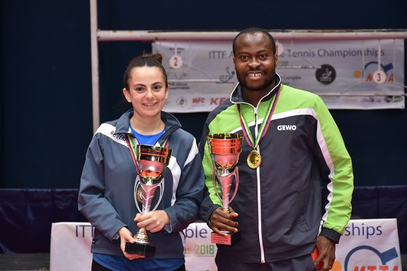 Aruna and Meshref win singles titles at African Table Tennis Championships