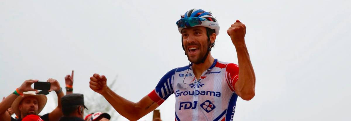 Pinot wins first Vuelta a España stage as Yates extends his lead in the red jersey