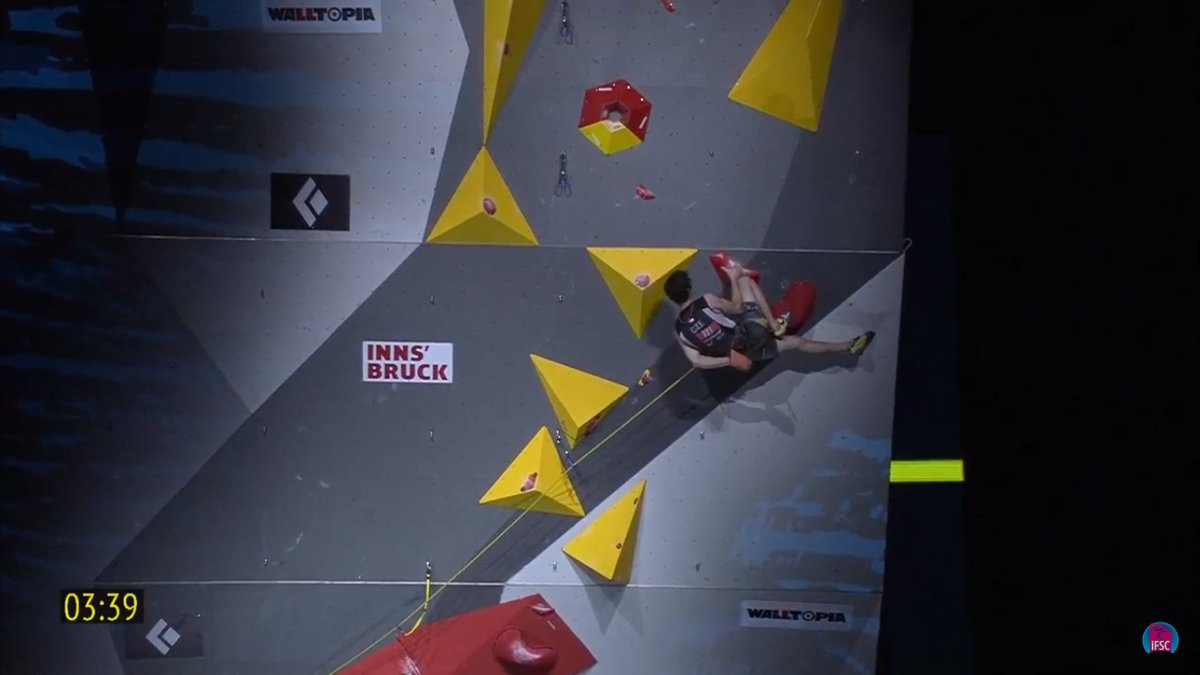 Reigning world champion Adam Ondra lost out on a record breaking third successive title because of a weaker semi-final score ©IFSC