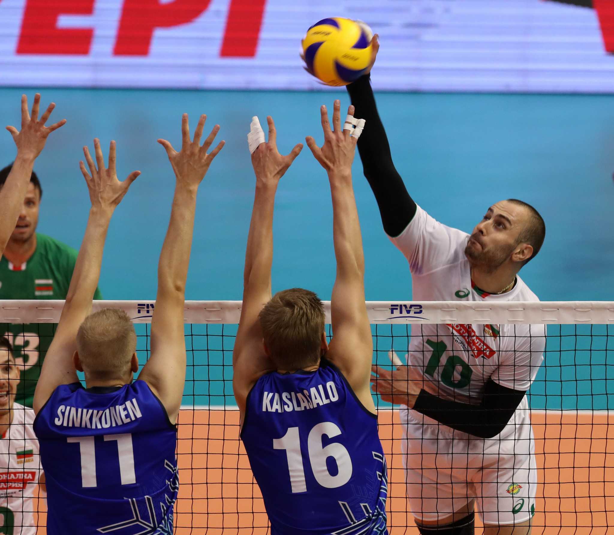 Bulgaria opened with victory against Finland ©FIVB