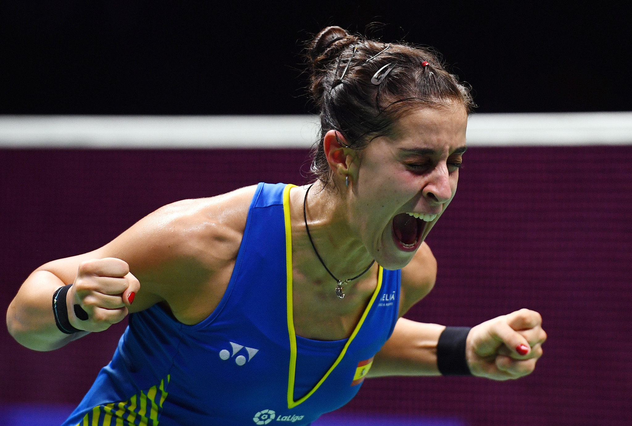 The women's world champion Carolina Marin is also among the entries ©Getty Images