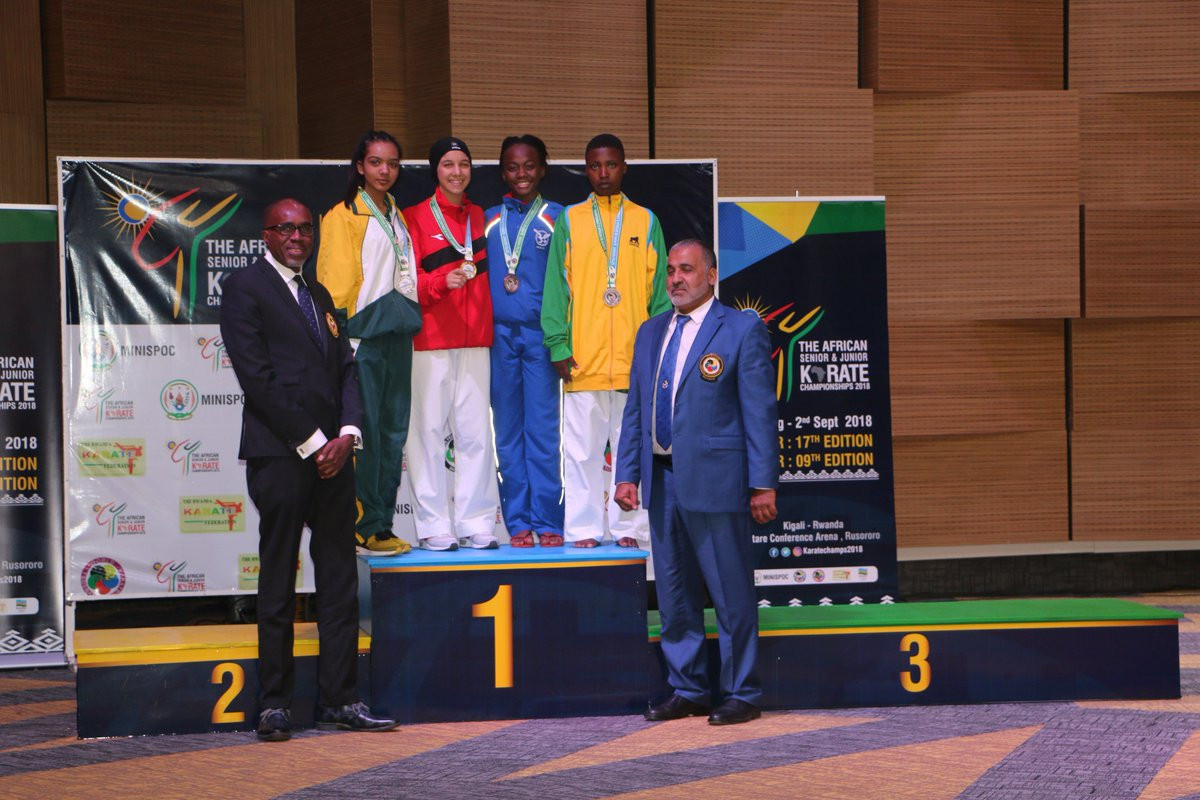 Kigali hosted this year's African Karate Championships ©WKF