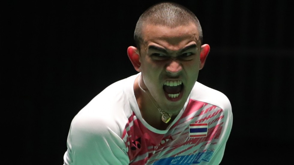 Thailand's Khosit Phetpradab stunned second seed Shi Yuqi of China to reach the second round in Tokyo ©BWF